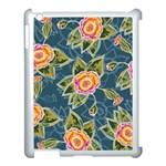 Floral Fantsy Pattern Apple iPad 3/4 Case (White)