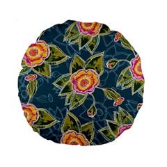 Floral Fantsy Pattern Standard 15  Premium Round Cushions by DanaeStudio