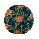 Floral Fantsy Pattern Standard 15  Premium Round Cushions