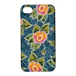 Floral Fantsy Pattern Apple iPhone 4/4S Hardshell Case with Stand