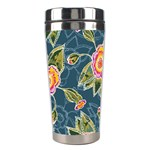Floral Fantsy Pattern Stainless Steel Travel Tumblers Right