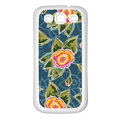 Floral Fantsy Pattern Samsung Galaxy S3 Back Case (white) by DanaeStudio