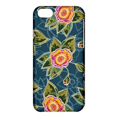 Floral Fantsy Pattern Apple Iphone 5c Hardshell Case