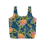 Floral Fantsy Pattern Full Print Recycle Bags (S)