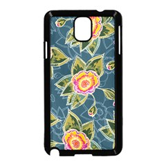 Floral Fantsy Pattern Samsung Galaxy Note 3 Neo Hardshell Case (black) by DanaeStudio