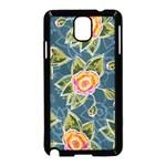 Floral Fantsy Pattern Samsung Galaxy Note 3 Neo Hardshell Case (Black)