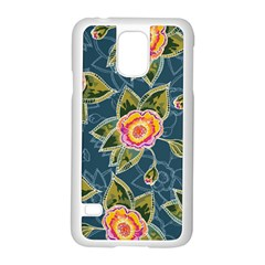 Floral Fantsy Pattern Samsung Galaxy S5 Case (white) by DanaeStudio