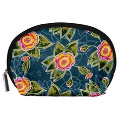 Floral Fantsy Pattern Accessory Pouches (large)  by DanaeStudio