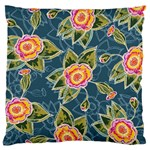 Floral Fantsy Pattern Standard Flano Cushion Case (One Side)