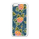 Floral Fantsy Pattern Apple iPhone 6/6S White Enamel Case Front