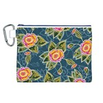 Floral Fantsy Pattern Canvas Cosmetic Bag (L)