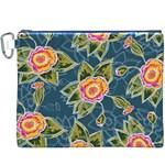 Floral Fantsy Pattern Canvas Cosmetic Bag (XXXL)