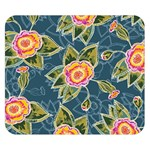Floral Fantsy Pattern Double Sided Flano Blanket (Small)