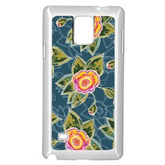 Floral Fantsy Pattern Samsung Galaxy Note 4 Case (white) by DanaeStudio