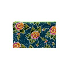 Floral Fantsy Pattern Cosmetic Bag (xs) by DanaeStudio