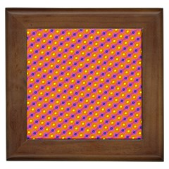 Vibrant Retro Diamond Pattern Framed Tiles by DanaeStudio
