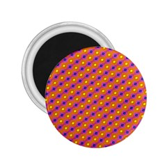 Vibrant Retro Diamond Pattern 2.25  Magnets