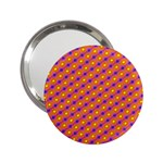 Vibrant Retro Diamond Pattern 2.25  Handbag Mirrors Front