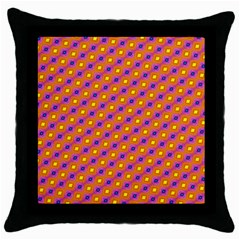 Vibrant Retro Diamond Pattern Throw Pillow Case (Black)