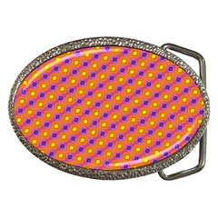 Vibrant Retro Diamond Pattern Belt Buckles