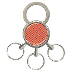 Vibrant Retro Diamond Pattern 3 Ring Key Chains by DanaeStudio