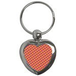 Vibrant Retro Diamond Pattern Key Chains (Heart)  Front