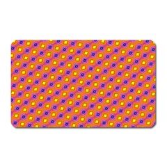 Vibrant Retro Diamond Pattern Magnet (Rectangular)