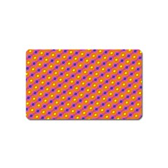 Vibrant Retro Diamond Pattern Magnet (name Card)