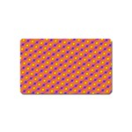 Vibrant Retro Diamond Pattern Magnet (Name Card) Front