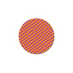 Vibrant Retro Diamond Pattern Golf Ball Marker