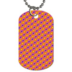 Vibrant Retro Diamond Pattern Dog Tag (Two Sides)