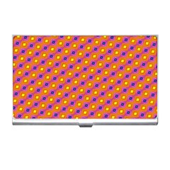 Vibrant Retro Diamond Pattern Business Card Holders