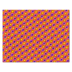 Vibrant Retro Diamond Pattern Rectangular Jigsaw Puzzl