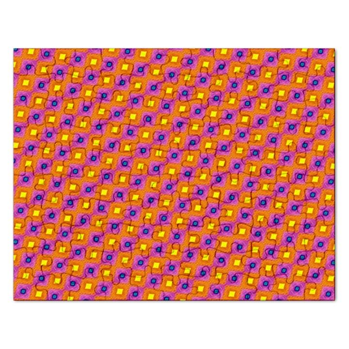 Vibrant Retro Diamond Pattern Rectangular Jigsaw Puzzl