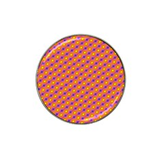 Vibrant Retro Diamond Pattern Hat Clip Ball Marker (4 pack)