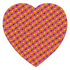 Vibrant Retro Diamond Pattern Jigsaw Puzzle (heart) by DanaeStudio
