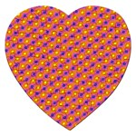 Vibrant Retro Diamond Pattern Jigsaw Puzzle (Heart) Front