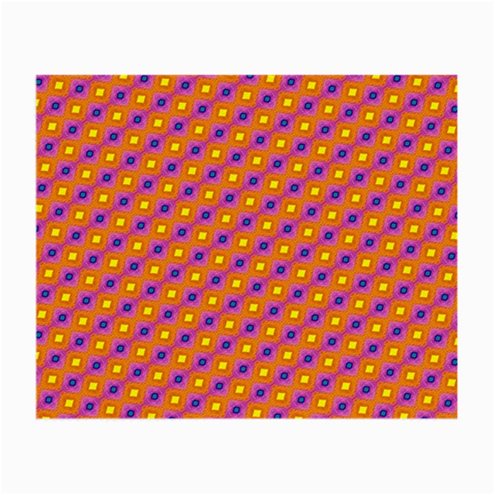 Vibrant Retro Diamond Pattern Small Glasses Cloth