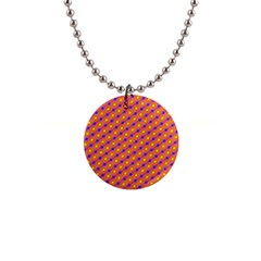 Vibrant Retro Diamond Pattern Button Necklaces
