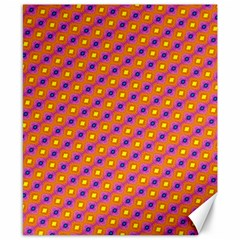 Vibrant Retro Diamond Pattern Canvas 8  x 10