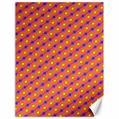Vibrant Retro Diamond Pattern Canvas 12  X 16   by DanaeStudio