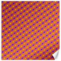 Vibrant Retro Diamond Pattern Canvas 16  X 16   by DanaeStudio