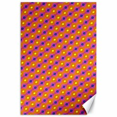 Vibrant Retro Diamond Pattern Canvas 24  x 36