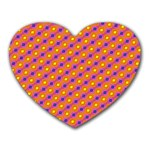 Vibrant Retro Diamond Pattern Heart Mousepads Front