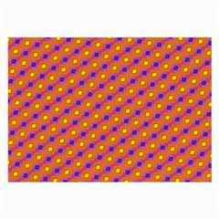 Vibrant Retro Diamond Pattern Large Glasses Cloth (2-Side)