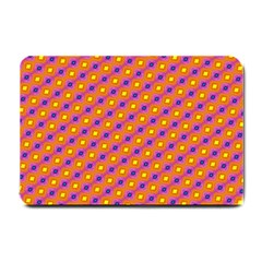 Vibrant Retro Diamond Pattern Small Doormat