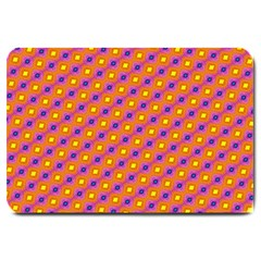 Vibrant Retro Diamond Pattern Large Doormat