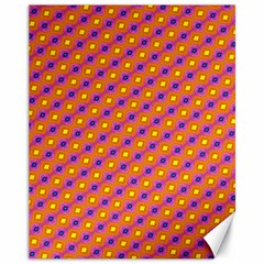 Vibrant Retro Diamond Pattern Canvas 11  x 14