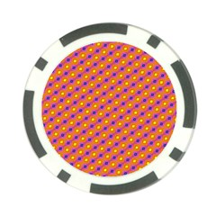 Vibrant Retro Diamond Pattern Poker Chip Card Guards