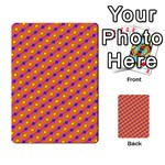 Vibrant Retro Diamond Pattern Multi-purpose Cards (Rectangle)  Frontback